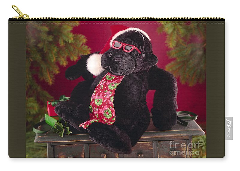 Gorilla Carry-all Pouch featuring the photograph Gorilla With Shades-faa by Gary Gingrich Galleries
