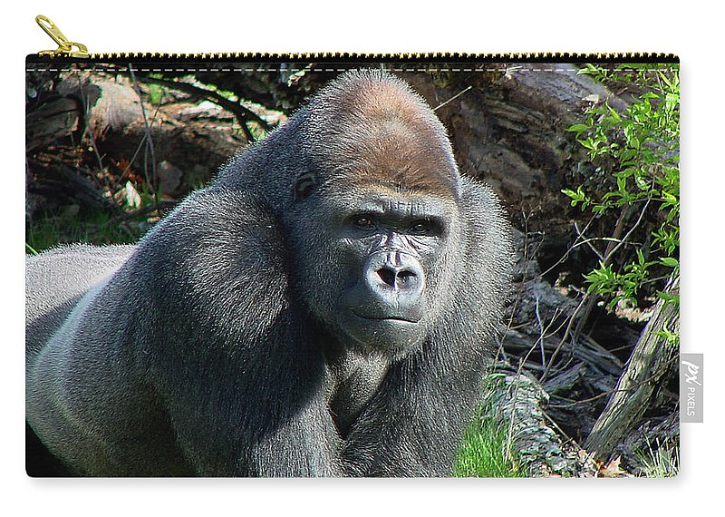 Gorilla Carry-all Pouch featuring the photograph Gorilla135 by Gary Gingrich Galleries
