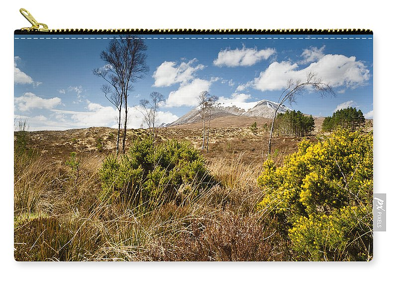 Beinn Eighe Carry-all Pouch featuring the photograph Gorse Bush On Mountain Approach by David Head