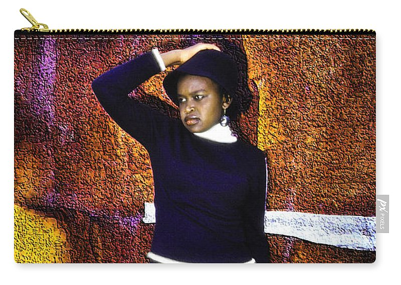African Carry-all Pouch featuring the photograph Gospel Artiste by Morris Keyonzo