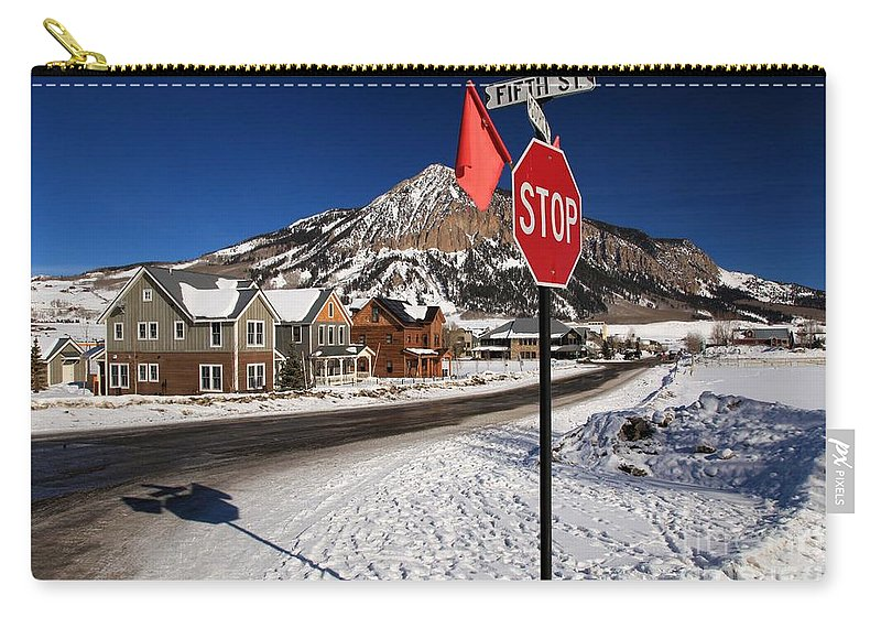 Fifth And Gothic Carry-all Pouch featuring the photograph Gothic And Fifth by Adam Jewell