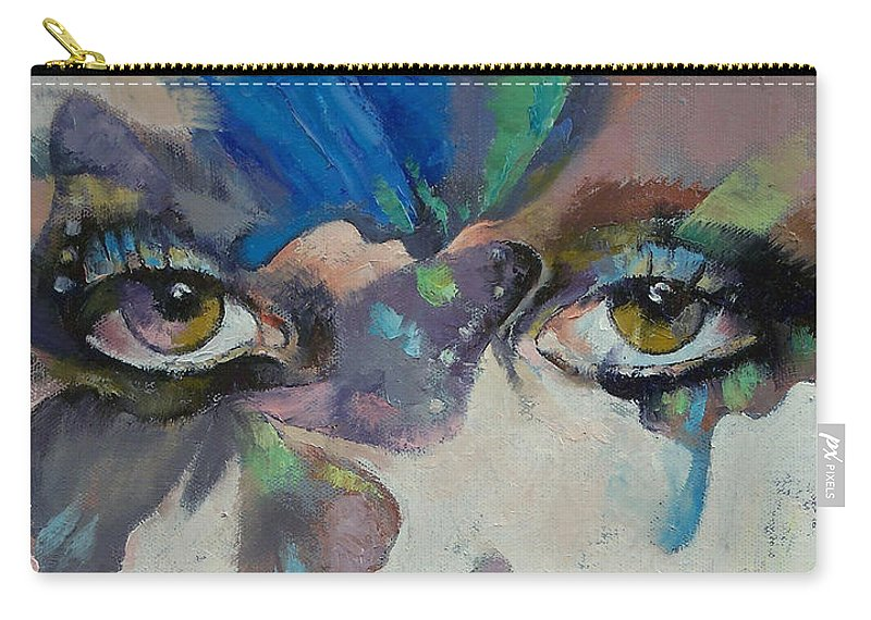 Gothic Carry-all Pouch featuring the painting Gothic Butterflies by Michael Creese