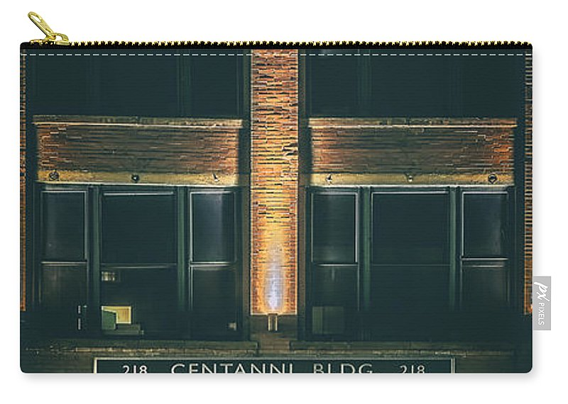 Architecture Carry-all Pouch featuring the photograph Goudas Italian Deli Color by Scott Norris