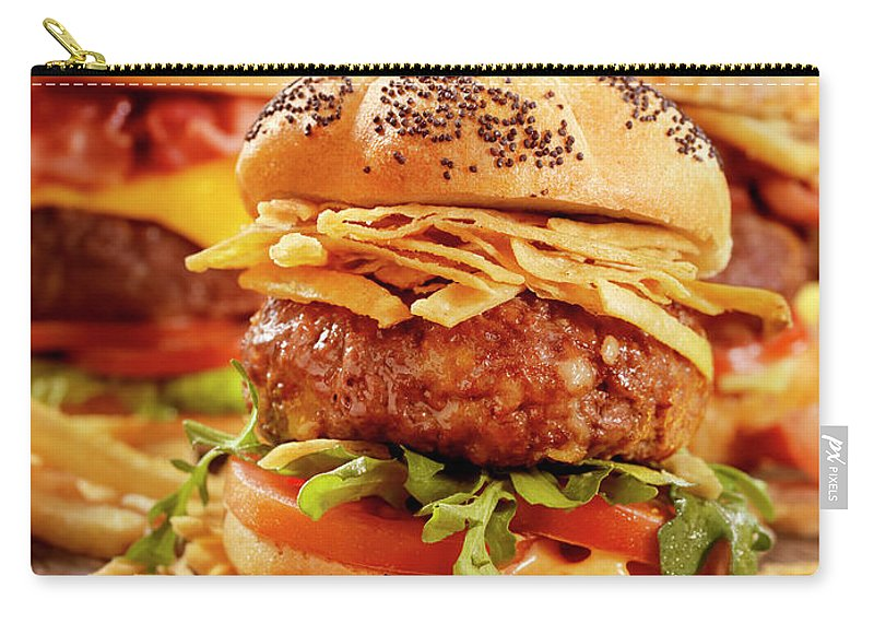 Stout Carry-all Pouch featuring the photograph Gourmet Sliders by Lauripatterson