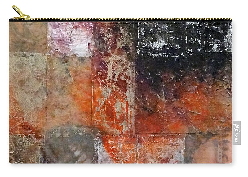 Grace Carry-all Pouch featuring the mixed media Grace And Chaos by Barbara Oertli