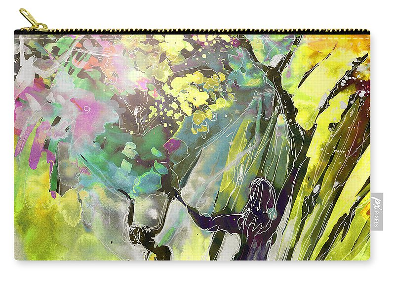 Fantasy Carry-all Pouch featuring the painting Grace Under Pressure by Miki De Goodaboom
