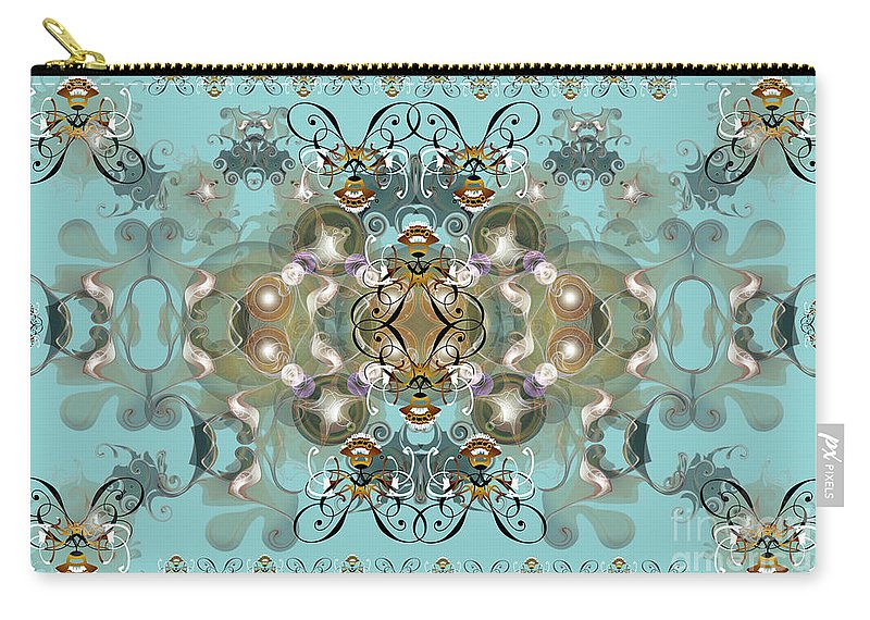 Abstract Carry-all Pouch featuring the digital art Graceful by George Pasini
