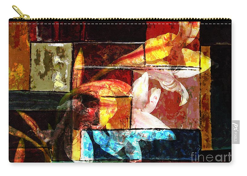 Abstract Carry-all Pouch featuring the digital art Gracefull by Yael VanGruber