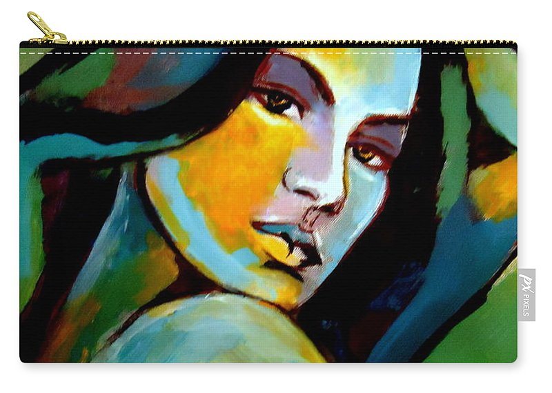 Contemporary Art Carry-all Pouch featuring the painting Gracefulness by Helena Wierzbicki