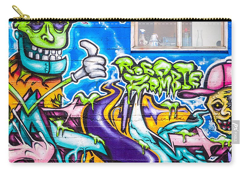 Europe Carry-all Pouch featuring the photograph Graffiti by Alexey Stiop