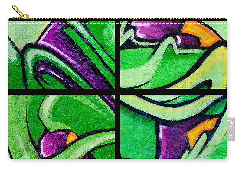 Urban Art Carry-all Pouch featuring the photograph Graffiti In Green by Art Block Collections