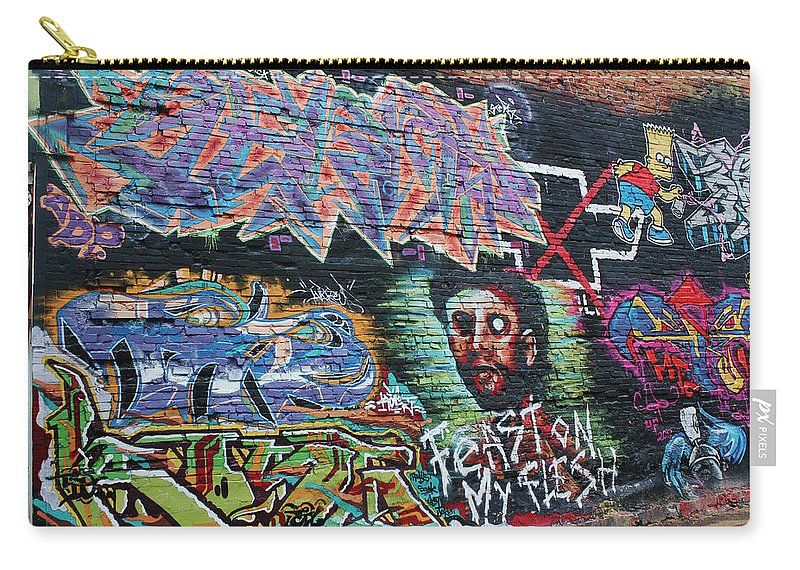 Graffiti Carry-all Pouch featuring the photograph Graffiti Series 01 by Carlos Diaz
