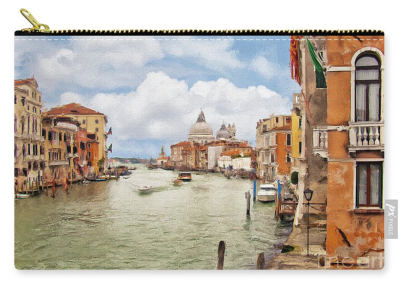 Grand Canal Carry-all Pouch featuring the photograph Grand Canal Apartment by Sharon Foster
