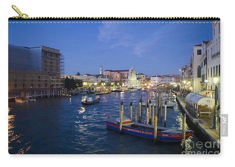Travel Carry-all Pouch featuring the photograph Grand Canal At Nigh by Jason O Watson