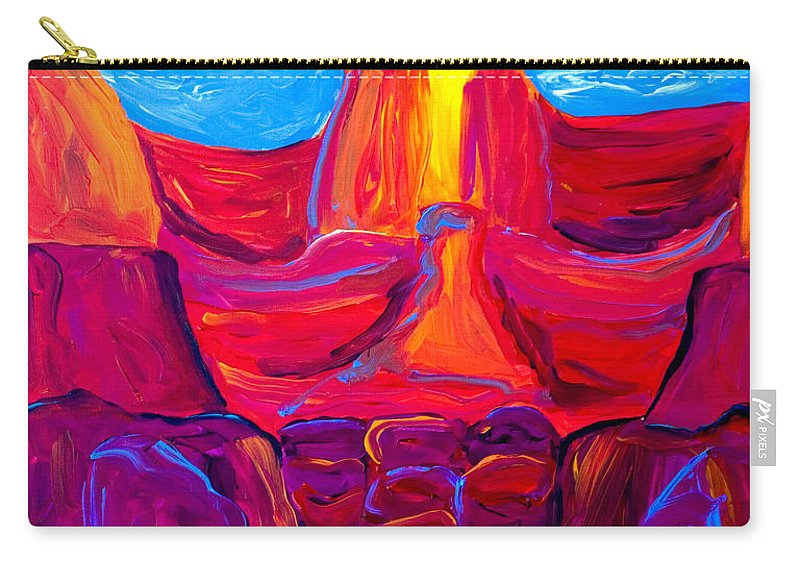 Grand Canyon Carry-all Pouch featuring the painting Grand Canyon by Beth Cooper