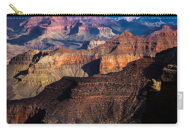 Arizona Carry-all Pouch featuring the photograph Grand Canyon Colors by Ed Gleichman
