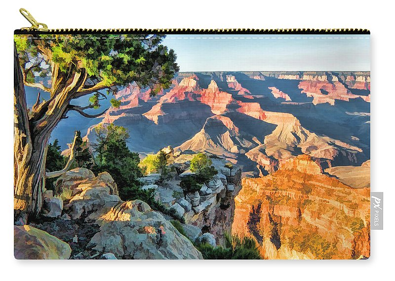 Grand Canyon Carry-all Pouch featuring the painting Grand Canyon Ledge by Christopher Arndt