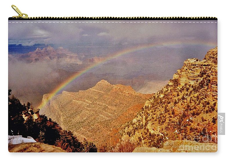 Grand Canyon Rainbow Carry-all Pouch featuring the photograph Grand Canyon Rainbow by Marilyn Smith
