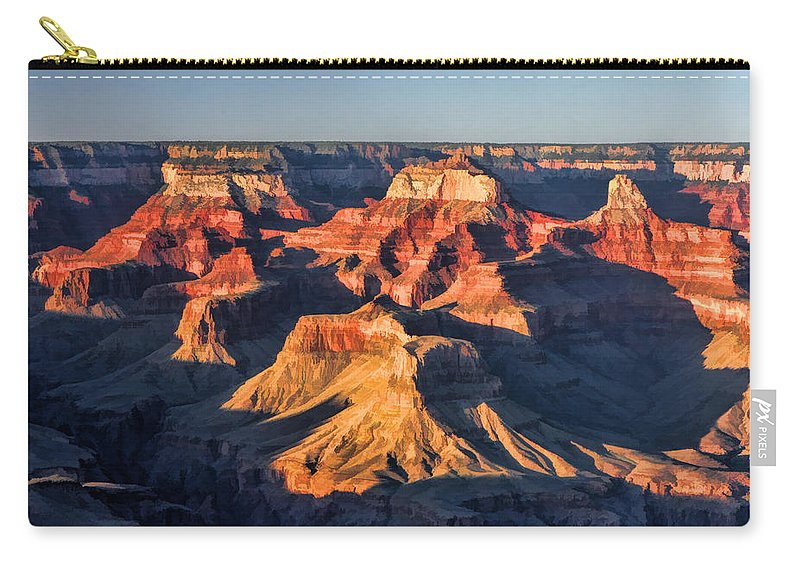 Grand Canyon Carry-all Pouch featuring the painting Grand Canyon Sunset by Christopher Arndt