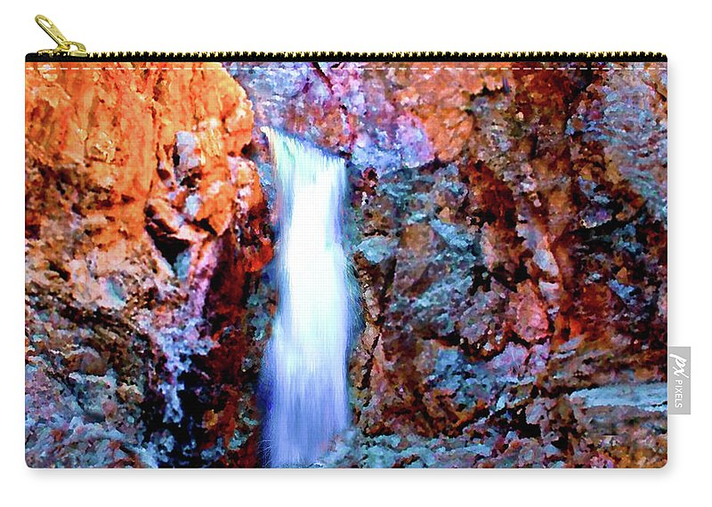 Grand Canyon Carry-all Pouch featuring the photograph Grand Canyon Waterfall by Bob and Nadine Johnston
