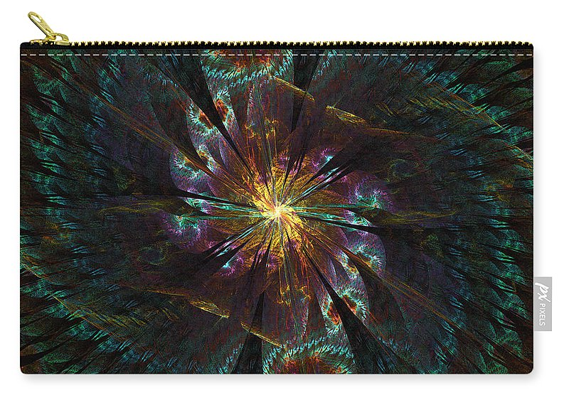 Spiral Carry-all Pouch featuring the digital art Grand Dame by Kiki Art
