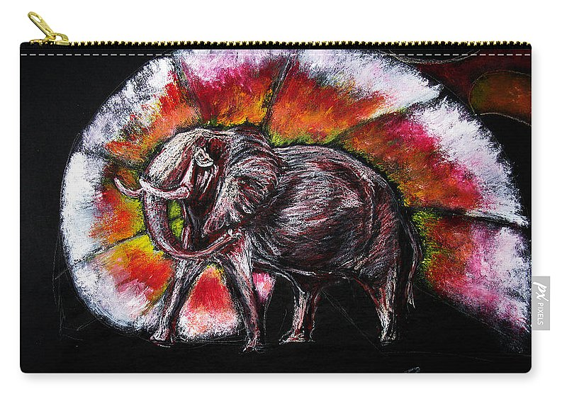 Wild Carry-all Pouch featuring the drawing Grand Designs For Life On Earth by Tom Conway