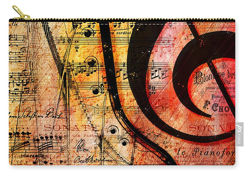 Piano Carry-all Pouch featuring the digital art Grand Fathers by Gary Bodnar