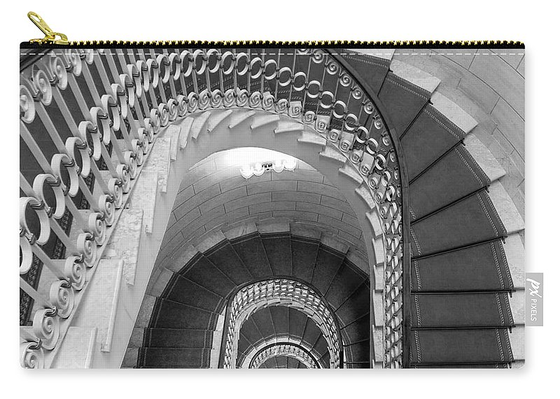 Stairwell Carry-all Pouch featuring the photograph Grand Flora Stairwell Rome Italy by Mike Nellums