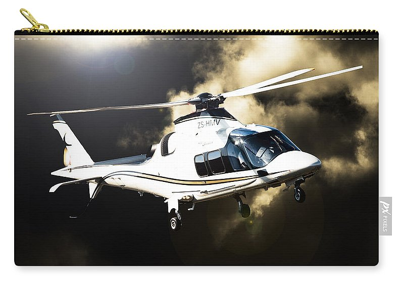 Agusta A109s Grand Carry-all Pouch featuring the photograph Grand Flying by Paul Job