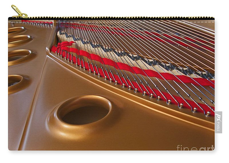 Piano Carry-all Pouch featuring the photograph Grand Piano by Ann Horn