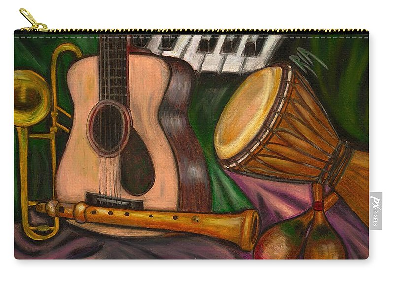 Music Carry-all Pouch featuring the photograph Grand POP by Artist RiA