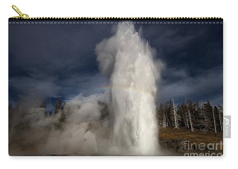 Grand Geyser Carry-all Pouch featuring the photograph Grand Show by Adam Jewell