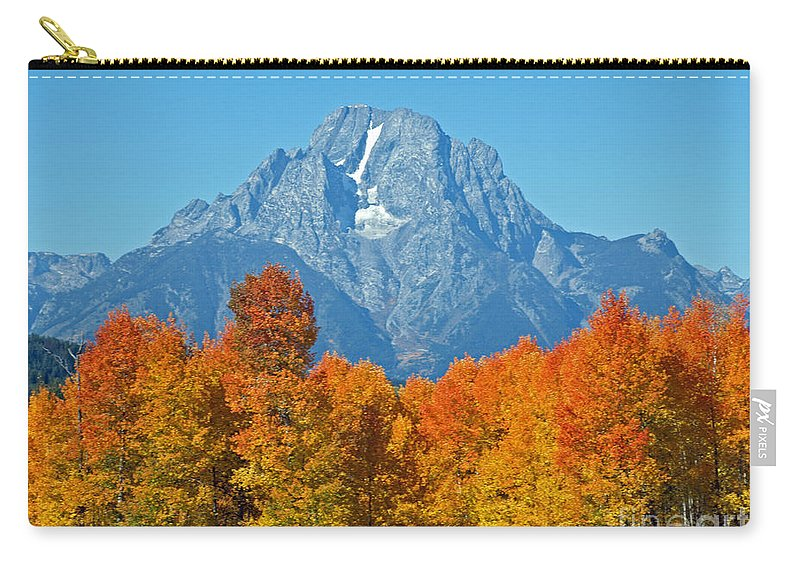 Mountain Carry-all Pouch featuring the photograph Grand Teton National Park 2 by Jacklyn Duryea Fraizer