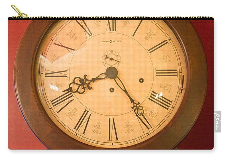 Grandfather Carry-all Pouch featuring the photograph Grandfather Clock Top 1 by Douglas Barnett