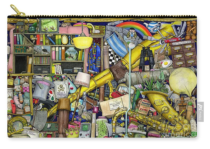 Bizarre Carry-all Pouch featuring the digital art Grandfather's Chest by MGL Meiklejohn Graphics Licensing