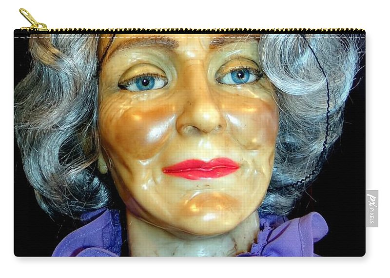 Mannequins Carry-all Pouch featuring the photograph Grandma Predicts by Ed Weidman