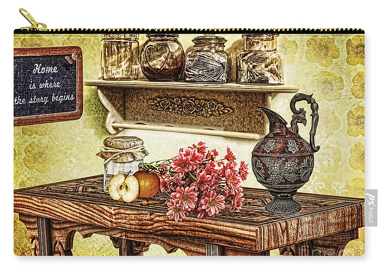 Grandma's Kitchen Carry-all Pouch featuring the photograph Grandma's Kitchen by Mo T