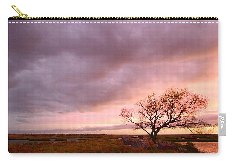Galveston Carry-all Pouch featuring the photograph Storm At Dusk 2am-108346 by Andrew McInnes