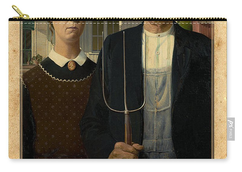 Grant Wood Carry-all Pouch featuring the photograph Grant Wood 1 by Andrew Fare