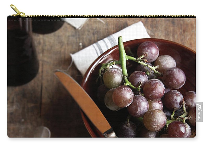 Spoon Carry-all Pouch featuring the photograph Grape by 200