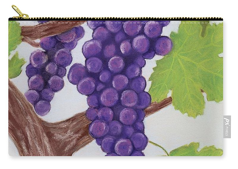 Grape Carry-all Pouch featuring the painting Grape Vine by Anastasiya Malakhova