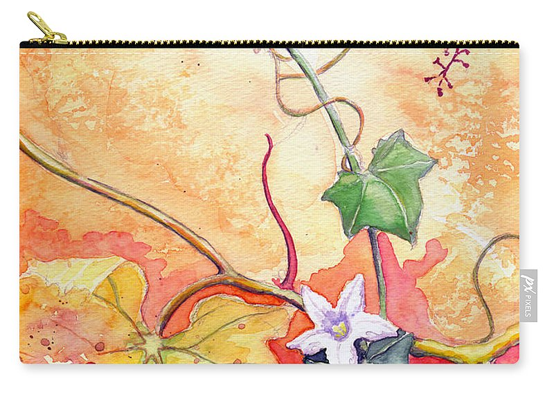 Grapevine Beetle Carry-all Pouch featuring the painting Grapevine Beetle by Katherine Miller