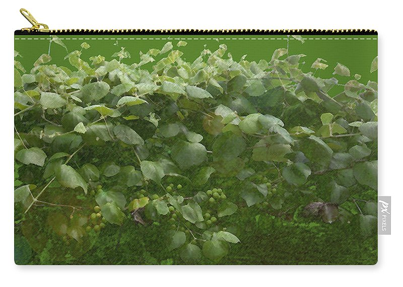 Ladybird Johnson Wildflower Center Carry-all Pouch featuring the photograph Grapevine by Greg Reed