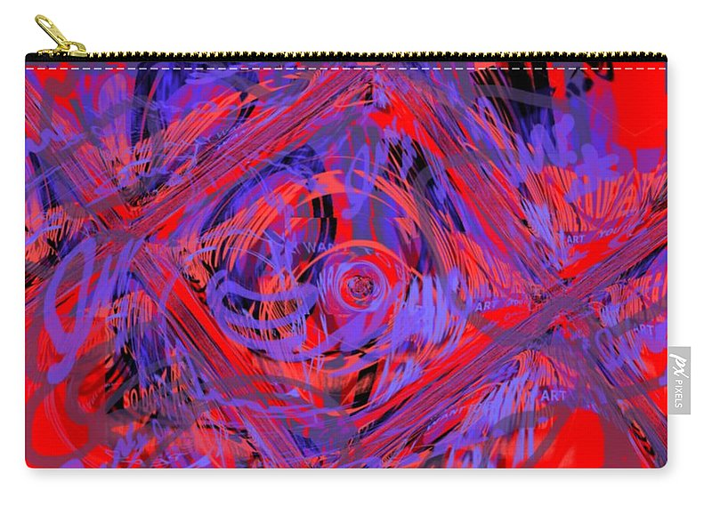 Graphic Art Carry-all Pouch featuring the digital art Graphic Explosion by Pharris Art