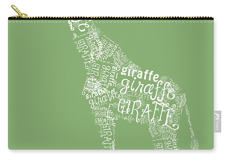 Graphic Carry-all Pouch featuring the digital art Graphic Giraffe by Heather Applegate