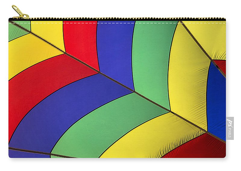 Hot Air Balloon Carry-all Pouch featuring the photograph Graphic Hot Air Balloon Detail by Garry Gay