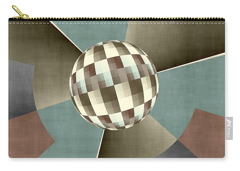 Digital Art Carry-all Pouch featuring the digital art Graphically by Gabiw Art