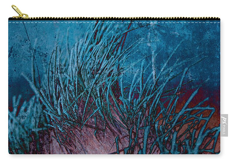 Frost Carry-all Pouch featuring the photograph Grass Abstract by David Pringle