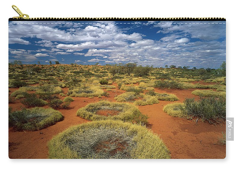 Ai Carry-all Pouch featuring the photograph Grass Covering Sand Dunes by Jean-Paul Ferrero