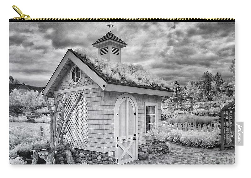 Ir Carry-all Pouch featuring the photograph Grass Roof Shed by Claudia Kuhn